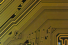 Circuit board digital highways Royalty Free Stock Image