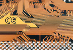 Circuit board digital highways Stock Photo