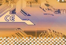 Circuit board digital highways Stock Photos