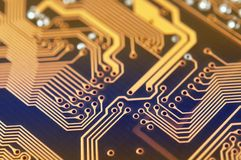 Circuit board digital highways Royalty Free Stock Photography