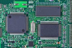 Circuit board, DOF Royalty Free Stock Image
