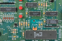 Circuit Board with electronic components Royalty Free Stock Photography