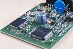 Circuit board with electronic components Royalty Free Stock Images