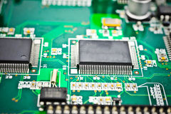 Circuit board with electronic Stock Image