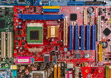 Circuit board with electronic components Royalty Free Stock Photo