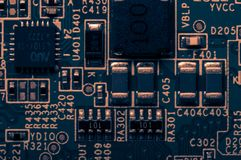 Circuit board. Electronic computer hardware technology. Information engineering component. macro photography Royalty Free Stock Photos