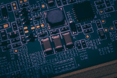 Circuit board. Electronic computer hardware technology. Information engineering component. macro photography Royalty Free Stock Photo