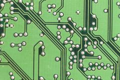 Circuit board. Electronic computer hardware technology. Motherbo Stock Photos