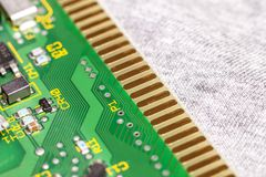 Circuit board. Electronic computer hardware technology. Motherbo Royalty Free Stock Photos