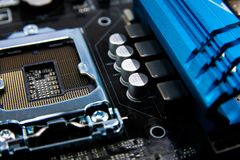 Circuit board. Electronic computer hardware technology.Motherboard digital chip .Modern Technology background. Motherboard for pro royalty free stock photos