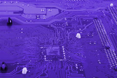 Circuit board. Electronic computer hardware technology. Motherboard digital chip. Tech science background. Integrated communicatio. N processor. Information Stock Photo