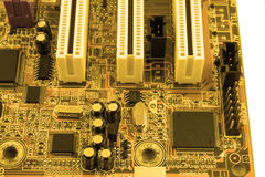 Circuit board. Electronic computer hardware technology. Motherboard digital chip. Tech science background. Integrated communicatio Stock Photo