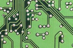 Circuit board. Electronic computer hardware technology. Motherbo Stock Images