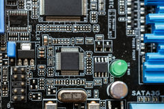 Circuit board. Electronic computer hardware technology. Motherboard digital chip Royalty Free Stock Image