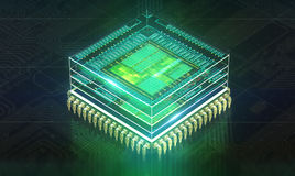 Circuit board. Electronic computer hardware technology. Motherboard digital chip. Tech science EDA background royalty free illustration