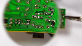 A circuit board with elements stock footage