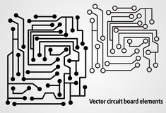 Circuit board elements Royalty Free Stock Photography