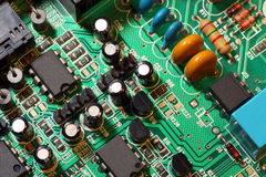 Circuit board extreme macro Royalty Free Stock Image