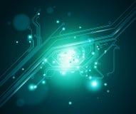 Circuit board eye conceptual background - vector vector illustration