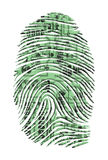 Circuit Board Finger Impression Stock Images