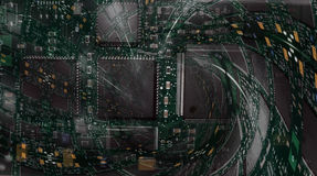 Circuit board - fractal background Stock Photo