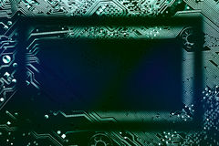 Circuit board frame Royalty Free Stock Image