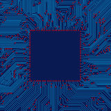 Circuit board frame Royalty Free Stock Photography