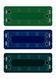 Circuit board frames Stock Images