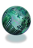 Circuit board globe Stock Photography
