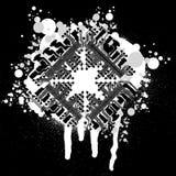 Circuit Board Graffiti. Black And White Circuit Board Graffiti Royalty Free Stock Image