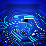 Circuit board graphic Royalty Free Stock Images