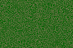 Circuit board green abstract texture Royalty Free Stock Image