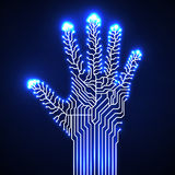 Circuit  board hand. Circuit abstract hand. Vector illustration. Eps 10 Stock Image