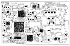 Circuit board. Royalty Free Stock Photo