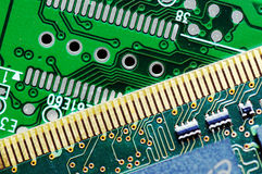 Circuit board of an hard drive and memory card Stock Photo