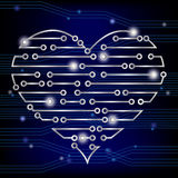 Circuit board heart Royalty Free Stock Photography