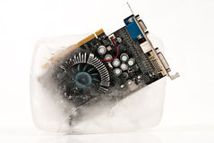 Circuit board in ice Stock Photography