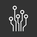 Circuit board icon. Royalty Free Stock Photo