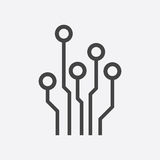 Circuit board icon. Stock Image