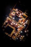Circuit Board Illuminated stock image