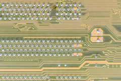 Circuit board integrated on computer Stock Image