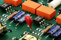 Circuit board isometric view Stock Images