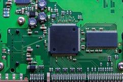 Circuit board. Laptop Circuit board close-up Stock Image