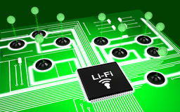 Circuit board Li-Fi concept Stock Images