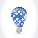 Circuit board light bulb illustration design Royalty Free Stock Photos