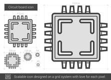 Circuit board line icon. Stock Photos