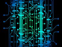 Circuit board lines Stock Photography