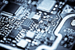 Circuit board macro Royalty Free Stock Photos