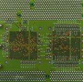 Circuit board macro background. Closeup of circuit board as macro background Stock Images