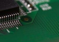 Circuit board macro photo Stock Photography